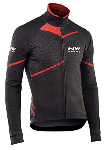 Northwave Blade Winter Fahrrad Jacke schwarz/rot 2017: Größe: M (46/48)
