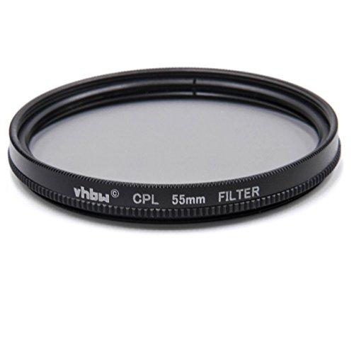 vhbw Universal CPL-Pol-Filter 55mm für Kamera Sony DT 4-5.6/55-200 SAM, DT 55-200 mm 4-5.6, FE 28-70 mm 3,5-5,6 OSS (SEL-2870).