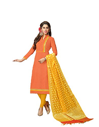 Shree Ganesh Retail Womens Banarasi Jacquard Churidar Salwar Kameez Unstitched Dress Material...