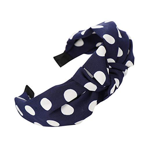 Yvelands Damen Mode Stirnbänder Breit Haarbänder Bogen Knoten Haarband Frauen Haar Kopfband Einfache Süße Mädchen Haar Stirnband - Herr T Ketten Kostüm