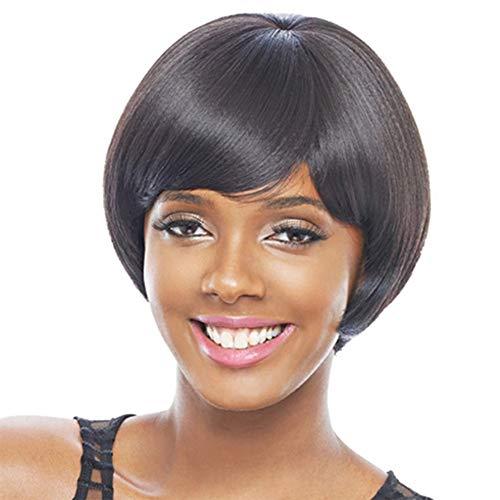 r Perücke Weibliche Flauschige Schwarz Chemiefaser Perücke Gesetzt Female Perücke Weibliches Glattes Haar Kurze 10 Zoll ()