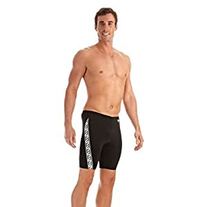 Speedo Boys' Monogram Jammer - Black/White, 22""