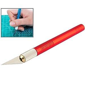 1) Cuchillo de precisión para el corte de la estera / modelismo / grabado / talla / rayado / recorte / cuchilla reemplazable 2) OAL: 145 mm 3) Material: Quirúrgico sostenido + cobre refinado + mango de aluminio 4) 5 cuchilla reemplazable 5...
