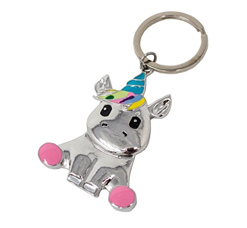 Panelize® Schlüssel-anhänger Einhorn Unicorn Handtaschen Koffer Rucksack Anhänger Keyholder Accessoires Strass besetzt Regenbogen-farben Weihnachtsgeschenk