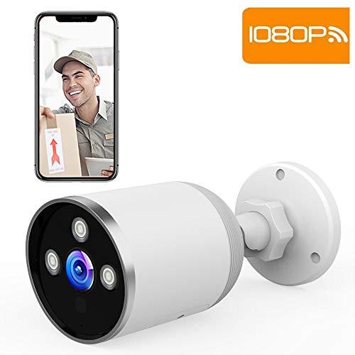 SUPEREYE WLAN IP Kamera,Outdoor WiFi Überwachungskamera,IP66 wasserdichte 1080P HD IP Kamera mit Nachtsicht,Zwei Wege Audio,Fernzugriff und Bewegungserkennung,Für Android/iOS,weiß Wifi-ip-kamera