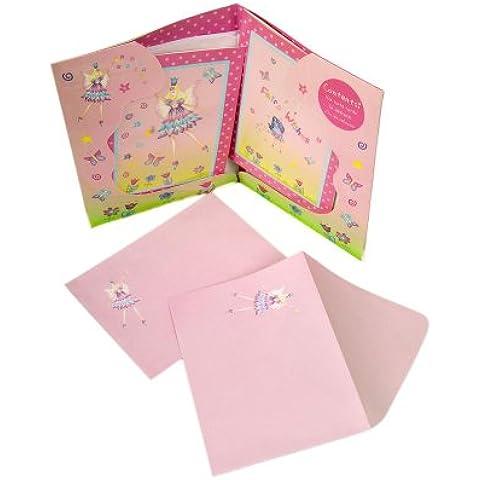Lucy Locket - Set de notas y sobres para escribir cartas con diseño de hadas para niñas.