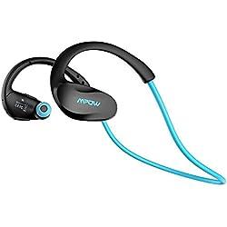 Auriculares Bluetooth Deportivos, Mpow Cheetah Auriculares Bluetooth 4.1 Deportivos Inalámbricos con Manos Libres para correr iPhone, iPad, LG, Samsung y Otros Teléfonos Móviles Android,Color Azul