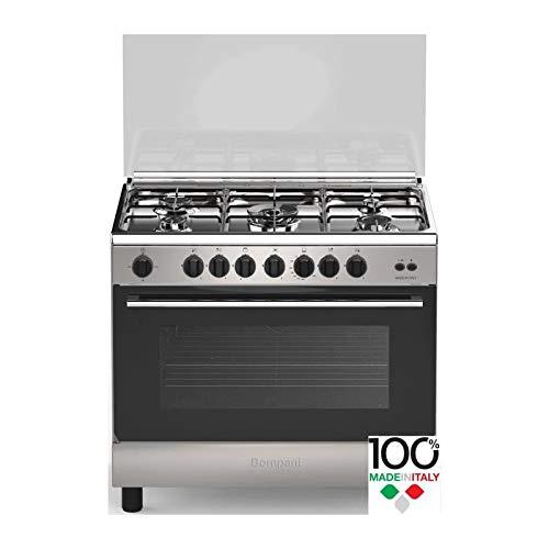 Bompani cdbo906gx - cuisiniere Table gaz - 5 foyers - Four gaz - Catalyse - 119 l - b - l 60 x h 85 cm - INOX