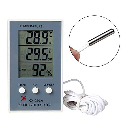 raspbery CX-201A Digitales Thermometer Elektronisches Hygrometer mit LCD Anzeige Monitor Temperatur und Luftfeuchtigkeit für des Home Office Schlafzimmers (Lcd-monitor-anzeige)