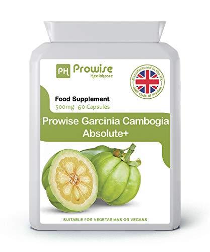 Garcinia Cambogia 500mg 60 capsules - Complément alimentaire de haute qualité fabriqué au Royaume-Uni - Qualité Gmp assuré - - Convient aux végétariens et aux végétaliens