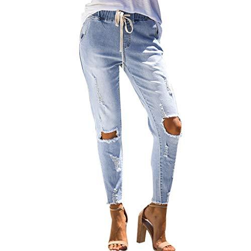 Lialbert Zerrissene Jeans Damen Jeans Skinny mit Löchern, Jeanshosen Röhrenjeans Skinny Slim Fit Stretch Stylische Boyfriend Destroyed Jeans Hose Lässig