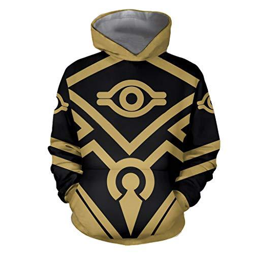 IDEALcos Spiel von Zelda Hoodie Sweatshirt Kostüm Daily Wear Cosplay Pullover Jacke (L, Gelb)