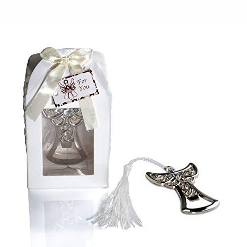 Gargola - lotto di 20 apribottiglie a forma di angelo di comunione, in scatola regalo per la prima comunione, originali apribottiglie, bomboniere per la prima comunione, regali per la comunione