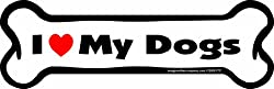 Imagine This I love My Dogs Bone Car Magnet, 2-Inch by 7-Inch