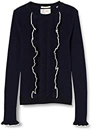 Scotch & Soda Fitted Pullover with Ruffle and Contrast Tipping suéter para N