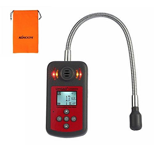 UYIGAO Portable Détecteur d'Gaz Combustible à Main,Détecteur de Localisation de Fuite de Gaz avec Ecran LCD,Alarme Visuelle et Sonore