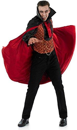 Uomo rosso nero vampiro Conte Dracula costume Halloween outfit m-xl