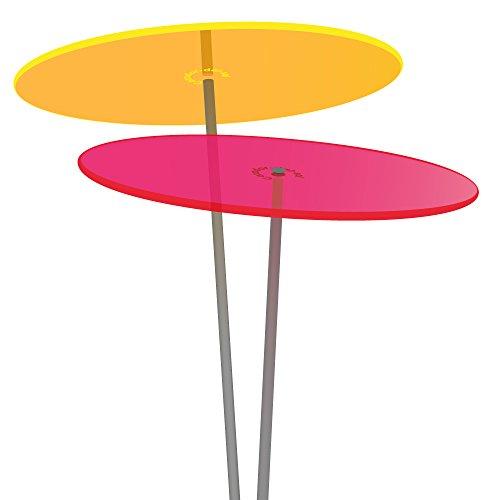 Cazador del Sol  Medio | Duo | 2 Stück Sonnenfänger-Scheiben Gelb/Rot 1,20 Meter Hoch - Das Original