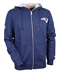 New Era Men Overwearzip Hoodie New England Patriots Blue S