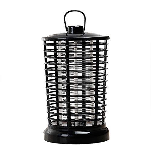 2019 Elektrischer Insektenvernichter, Nourich Moskitolampe mit Lichthaken Ragbar, Stehend Oder Hängend Insektenlampe Mückenlampe Mückenbekämpfung Ungiftig Insektenfalle (schwarz)