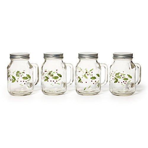 Pfaltzgraff Winterberry Mason Jars, 20-Ounce, Set of 4 by Pfaltzgraff (Oz Mason 20 Jars)