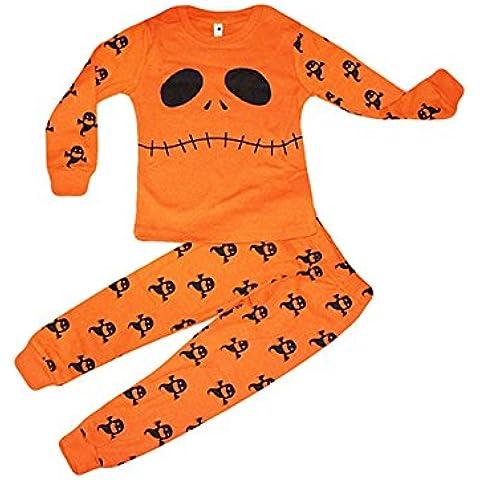 Tkria niños pijamas Halloween Ghostbusters infantil del bebé 2 piezas de ropa
