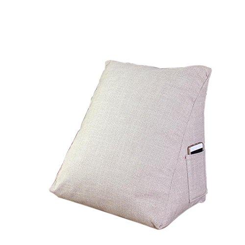 Chenille Kinder-stühle (XXFFH Teppich Dreieckiges Faules Sofa, Baumwoll- Und Leinenkissen Taillenkissen, Seitentaschenentwurf, Kleiner Raum, Großer Nutzen , Beige)