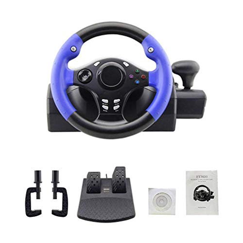 LEM 7 in 1 Volante con Vibrazione e Pedali, Compatibile con Ps4/Ps3/Pc/Xboxone/Xbox360/Switch/Android 250 mm