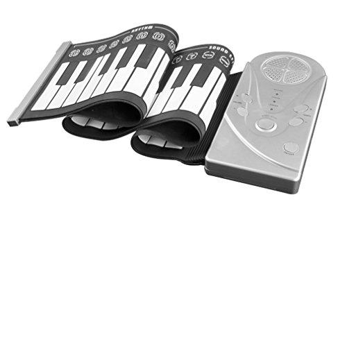 BDFA Fold Keyboard Piano 49-Taste mit Horn 8 Drum-Rhythmus, 16 Lautstärkeregelung, 32 Level-Beat-Control, Automatische Schlaf-Power-Saving-Funktion Klaviermatte
