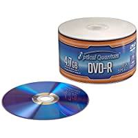 Optical Quantum OQDMR16WIPH-50SP 16X 4.7 GB DVD-R White Inkjet Printable Recordable 50-Disc Spindle