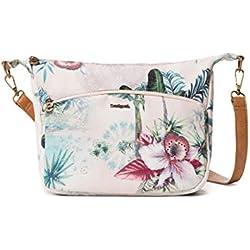 Desigual Bag Soft Tropi Balcad Women, Sacs bandoulière femme, Blanc (Bleached Sand), 9x21x28.5 cm (B x H T)