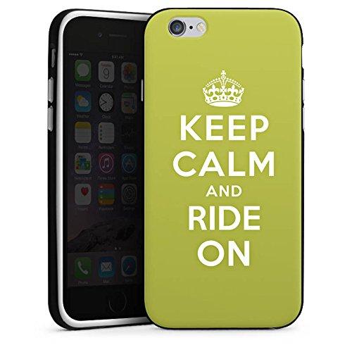 Apple iPhone X Silikon Hülle Case Schutzhülle Keep Calm Urlaub Statement Silikon Case schwarz / weiß