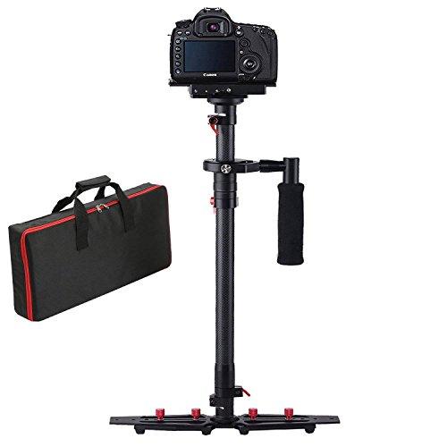 """Kamera stabilisator, FOTOWELT HD-2000 Kohlefaser 30.9""""/78.5cm Schwebestativ DSLR mit Schnellwechselplatte 1/4"""" Schraube für DSLR Sony Canon Nikon Camcorder DV Kamera-up to 1-5kg/2.2-11.02Ib"""