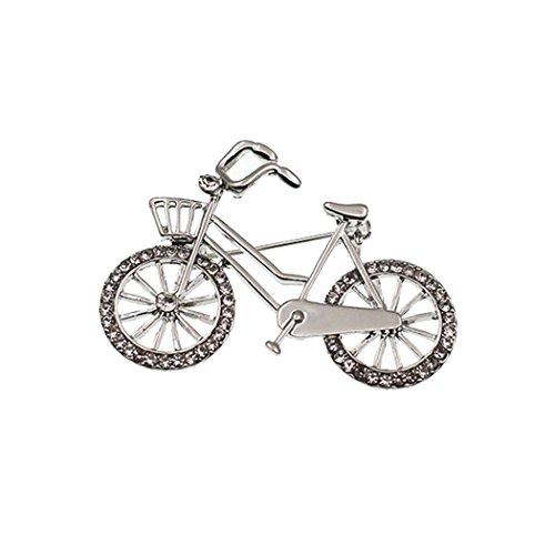 Zoylink Fahrrad Brosche Kleiderbrosche Stilvolle Fahrradform Strass Brosche Schal Clip