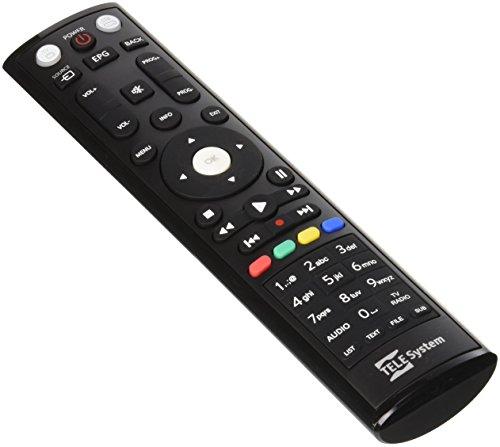 TELE System All in One IR inalámbrico Botones Negro - Mando a distancia (DTV, TV, IR inalámbrico, Botones, Negro)