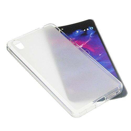 foto-kontor Tasche für MEDION Life X5020 Gummi TPU Schutz Handytasche milchig transparent