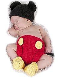 ARAUS Sombrero Ninos de Punto Hecho de Mano con Pantalones + Zapatos para Bebe Fotografía