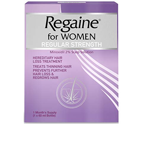 Regaine for Women Regular Strength Scalp Solution, Hereditary Hair Loss Treatment for Women with Minoxidil, Helps Regrows Hair and Prevents Further Hair Loss Hair, 60 ml (1 Month Supply)