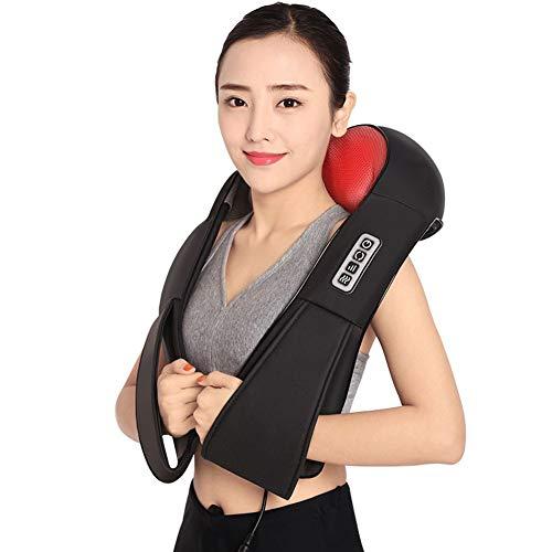 yyqamy Shiatsu Nackenmassagegerät Mit Wärme Massagegerät Nacken Schulter Mit Wärmefunktion 3D-Rotation Massage Einstellbaren Perfekt Für Eltern, Alte, Freunde Im Haus Büro
