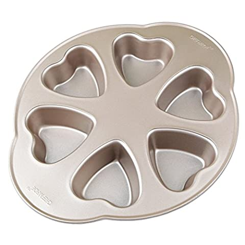Love Cake Mold Baking DIY Heart-shaped Chocolate Cookies Mold Household Baking Tray 6 Continuous