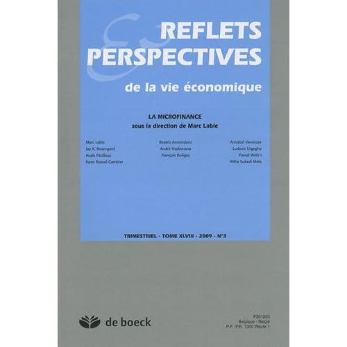 Reflets & Perspectives de la vie économique, N° 3 : La microfinance