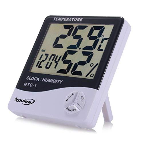 CHESUN Innen Außen Temperatur Anzeige Satellitengestützte Wetterstation Zuverlässiger Digitales Thermo Hygrometer Großer Innen Digital Luftfeuchtigkeit10.3 * 9.3 * 2.3CM