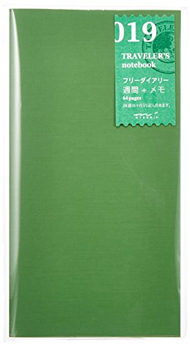 Designphil TRAVELER'S notebook Refill 019 Free Diary [Weekly + Memo] 14331006 (Japan Import)