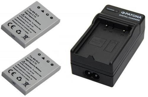 2x Akku (baugleich Nikon EN-EL5) + 1x Ladegerät SET für die Nikon CoolPix P520 P510 P500 3700 4200 5200 5900 7900 inklusive Kfz- / Autoladegerät und PATONA Displaypad