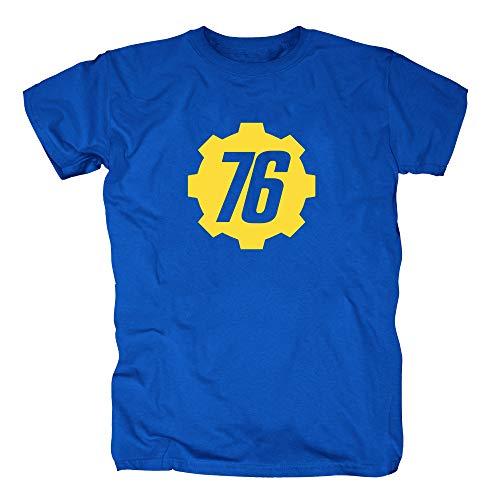 TSP Vault 76 Tec Inc T-Shirt Herren XXL Royalblau (Battlefield Vault)