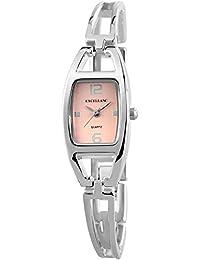 Excellanc 180425500040 - Reloj de pulsera mujer, varios materiales, color plateado