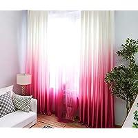 Belle Cose Degrade Renk Geçişli Pembe Tül Perde, Çocuk Odası, Genç Odası, Bebek Odası Perde-Pembe-180X250 cm