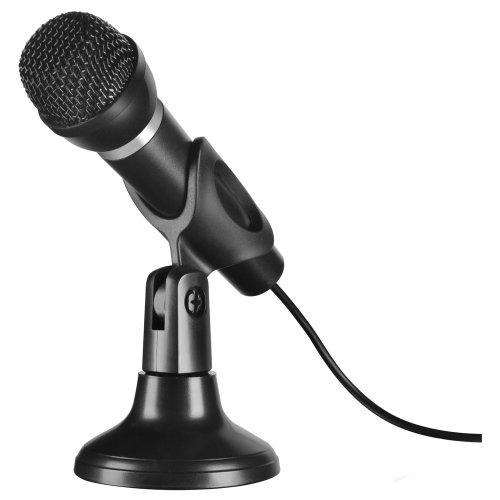 Speedlink SL-8703-SBK - Micrófono para ordenador (soporte de sobremesa, 3.5...