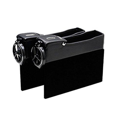 Zhhlinyuan Dauerhaft 2pcs Universal Car Auto Seiten Schlitz Seat Filler Gap Bottle Coffee Cup Holder Storage Box Organizer