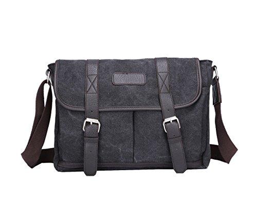 Yy.f Neue Art Und Weise Beutel Schulter-Kurier-Segeltuchbeutel Männer Casual Taschen Mode-Taschen Solides Paket Multicolor Black